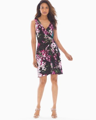 Adrianna Papell Fit and Flare Dress Black Multi
