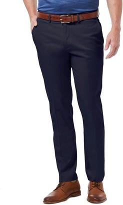 Haggar Big & Tall Premium No-Iron Khaki Stretch Slim-Fit Flat-Front Pants