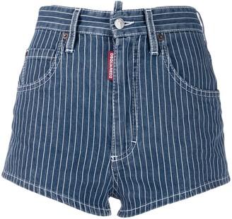 DSQUARED2 Pinstripe Denim Shorts