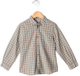Bonpoint Boys' Patterned Button-Up Shirt