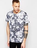 Dr Denim T-shirt Russ Mineral Print Charcoal