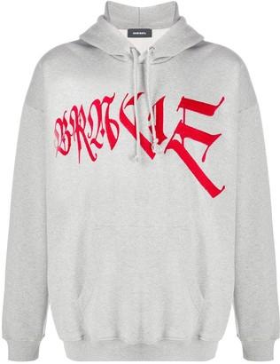 Diesel Brave embroidered hoodie