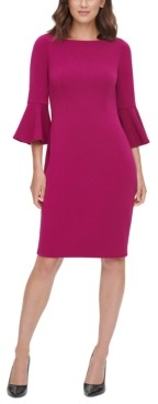 Harper Rose Bell-Sleeve Sheath Dress