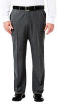 Haggar Big & Tall Suit Separates Pant - Stria Gabardine - Straight Fit