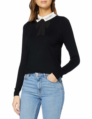New Look Women's Embellished Collar 2IN1 Jumper Sweater