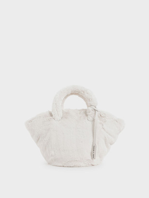 Charles & Keith Textured Trapeze Bag