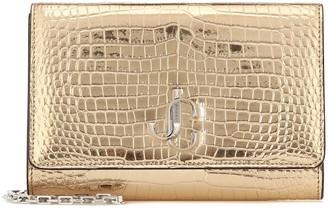 Jimmy Choo Varenne croc-effect leather clutch