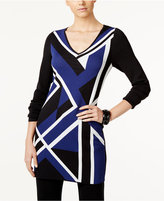 INC International Concepts Colorblocked Jacquard Tunic, Only at Macy's
