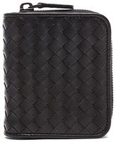 Bottega Veneta Small Woven Wallet in Black
