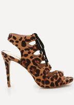 Bebe Ezzy Faux Leopard Sandals