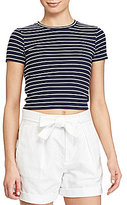 Polo Ralph Lauren Striped Cropped Jersey Tee