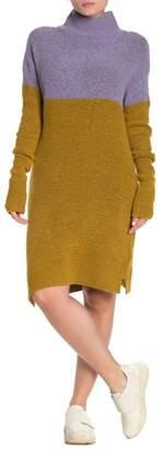 Susina Colorblock Turtleneck Sweater Dress