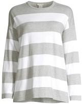 Eileen Fisher Crewneck Striped Boxy Sweater
