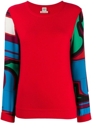 Hermes Pre-Owned Abstract Sleeves Blouse