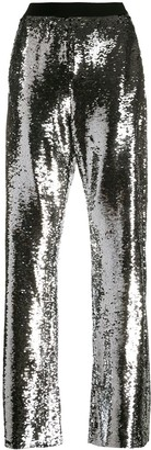 Golden Goose Kelly sequin-embellished wide-leg trousers