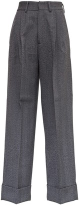 Tonello Gray Wool Wide Leg Pants