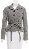 Guy Laroche Belted Tweed Blazer
