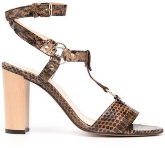 Tila March Pebble snakeskin sandals