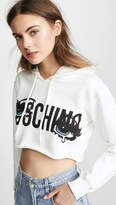 Moschino Crying Eyes Cropped Hoodie