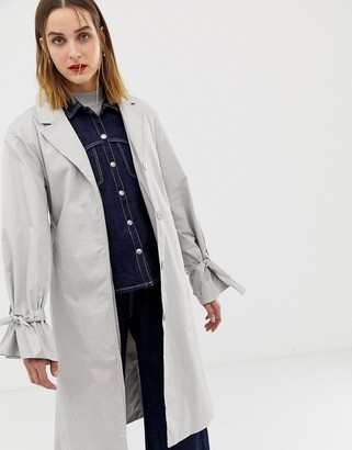 2nd Day longline trench coat