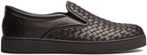 Bottega Veneta Intrecciato leather slip-on trainers