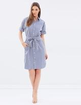 Polo Ralph Lauren Striped Cotton Shirt Dress