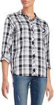 Kensie Women's Relaxed-Fit Plaid Shirt