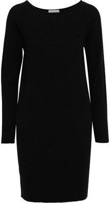 Vince Ribbed Wool-blend Mini Dress