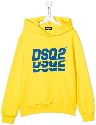 DSQUARED2 TEEN DSQ2 print hoodie