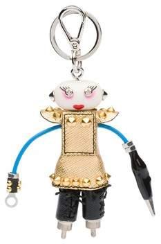 Prada Nancy Leather Keychain Trick