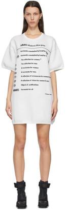 MM6 MAISON MARGIELA Off-White Knit Logo Dress
