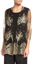 Luxury Lace Jacket, Gold/Black, Petite
