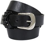 Yours Clothing Black Jean Belt With Plaited Trim