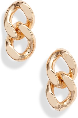 Knotty Curb Chain Earrings