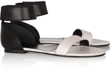 Chloé Two-tone ayers and leather sandals