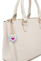 Forever 21 Iridescent Heart Keychain