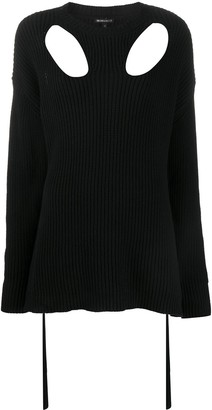 Ann Demeulemeester Ribbed Cut-Out Jumper
