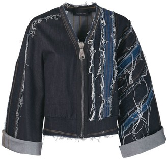 NO KA 'OI Ripped Denim Jacket