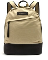 WANT Les Essentiels Kastrup canvas and leather backpack