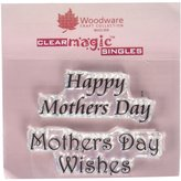 Woodware Craft Collection JWS021 Stamp Sheet, 2.5 by 1.75-Inch, Happy Mothers Day