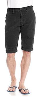 Calvin Klein Jeans Men's Black Canvas Short with Pork Chop Pockets