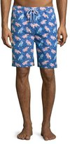 Peter Millar Lobster & Seashell Swim Trunks, Dark Blue