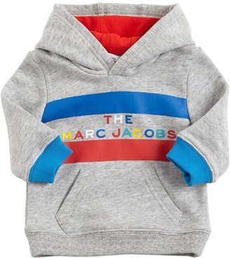 Little Marc Jacobs Logo Print Cotton Sweatshirt Hoodie
