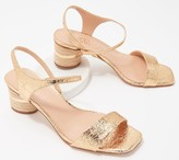 Franco Sarto Suede or Metallic Heeled Sandals - Melody