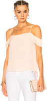 Alexander Wang Silk Pleated Off The Shoulder Top