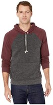 Threads 4 Thought Baseline Color Block Pullover Hoodie (Heather Black/Maroon Rust) Men's Clothing