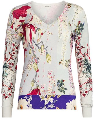 Etro Patchwork Floral Sweater