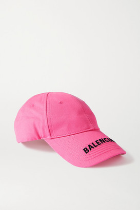 Balenciaga Embroidered Cotton-twill Baseball Cap - Pink