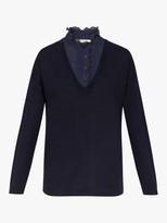 Gerard Darel Snow Merino Wool Jumper, Blue