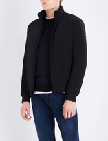 Armani Jeans Stand collar shell bomber jacket